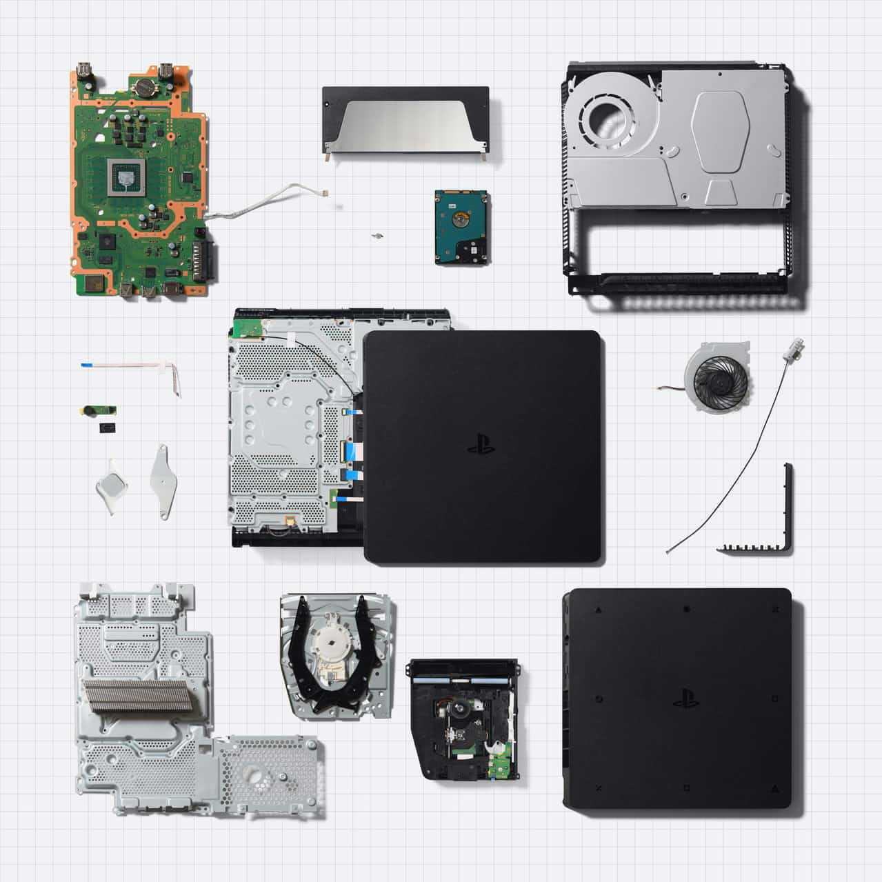 The innards of the PlayStation